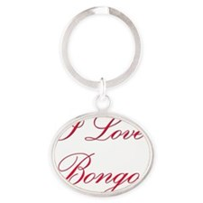 Bongos135 Oval Keychain