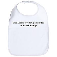 One Polish Lowland Sheepdog Bib