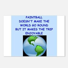 paintball Postcards (Package of 8)