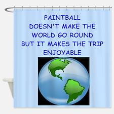 paintball Shower Curtain
