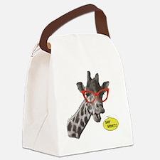 'SAY WHAT!?' Giraffe Canvas Lunch Bag