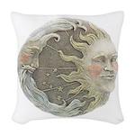 sunmoonplaque.png Woven Throw Pillow