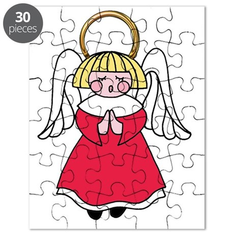 Blonde Girl Angel Puzzle