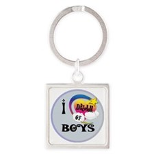 I Dream of Boys Square Keychain