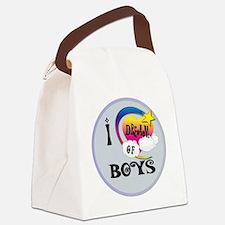 I Dream of Boys Canvas Lunch Bag
