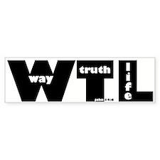 WTL Bumper Bumper Sticker