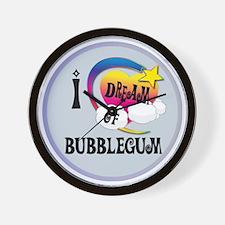 I Dream of Bubble Gum Wall Clock