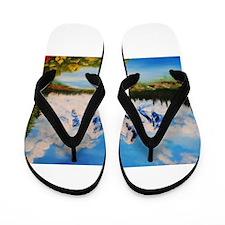 cloudy morning Flip Flops