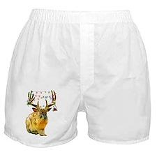 Christmas Jackalope Boxer Shorts