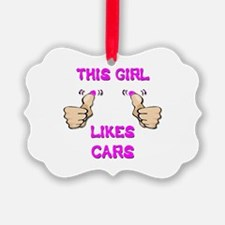 This Girl Likes Cars Ornament
