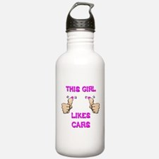 This Girl Likes Cars Water Bottle
