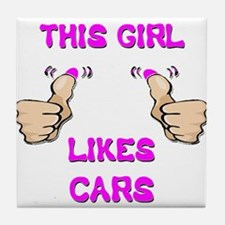 This Girl Likes Cars Tile Coaster