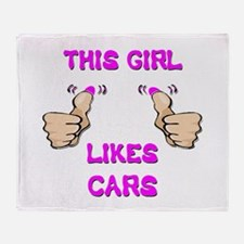 This Girl Likes Cars Throw Blanket