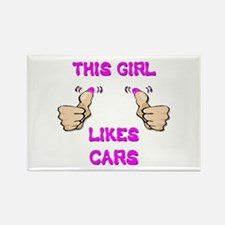 This Girl Likes Cars Rectangle Magnet