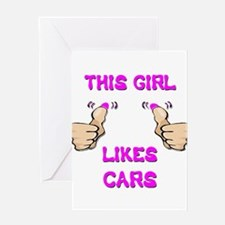 This Girl Likes Cars Greeting Card
