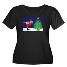 Santasaurus Plus Size T-Shirt