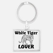 White-Tiger4913 Landscape Keychain