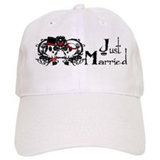 Just Married Skulls Baseball Cap