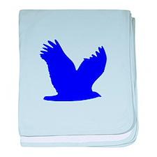 Blue Flying Eagle Silhouette baby blanket