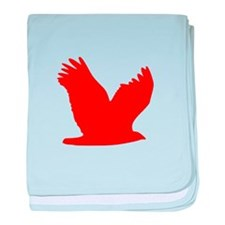 Red Flying Eagle Silhouette baby blanket