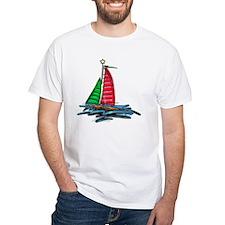 Red & Green Christmas Sailboat Shirt