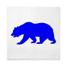 Blue California Bear Queen Duvet