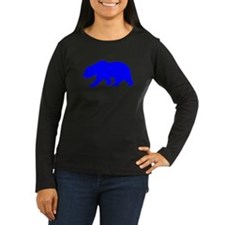 Blue California Bear Long Sleeve T-Shirt
