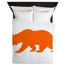 Orange California Bear Queen Duvet