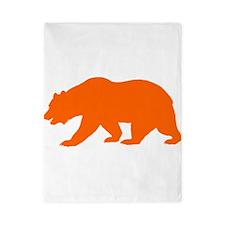 Orange California Bear Twin Duvet