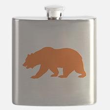 Orange California Bear Flask
