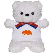 Orange California Bear Teddy Bear