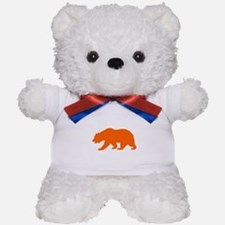 Orange California Bear Teddy Bear