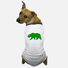 Green California Bear Dog T-Shirt