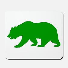 Green California Bear Mousepad