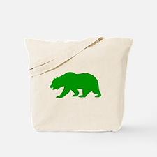 Green California Bear Tote Bag