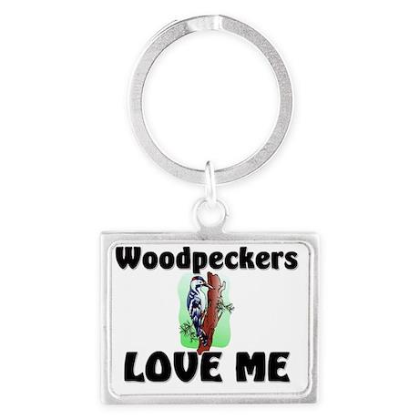 Woodpeckers1044 Landscape Keychain