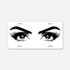 Eyes Aluminum License Plate