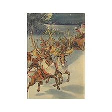 Vintage Christmas Santa Claus Rectangle Magnet