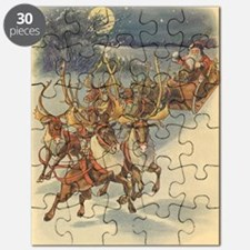 Vintage Christmas Santa Claus Puzzle