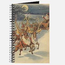 Vintage Christmas Santa Claus Journal