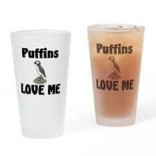 Puffins123114 Drinking Glass