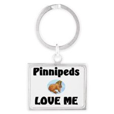 Pinnipeds58128 Landscape Keychain
