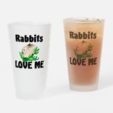 Rabbits17110 Drinking Glass