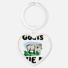 Goats105258 Heart Keychain