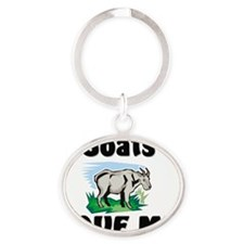 Goats105258 Oval Keychain