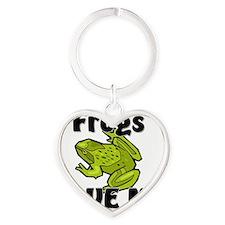 Frogs142270 Heart Keychain
