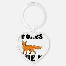 Foxes28271 Heart Keychain
