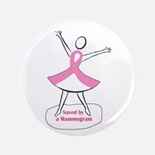 "Mammograms Are Important 3.5"" Button (100 pack)"