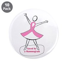 """Mammograms Are Important 3.5"""" Button (10 pack)"""
