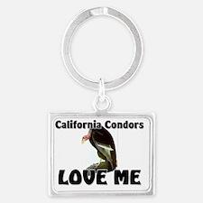 California-Condors30355 Landscape Keychain